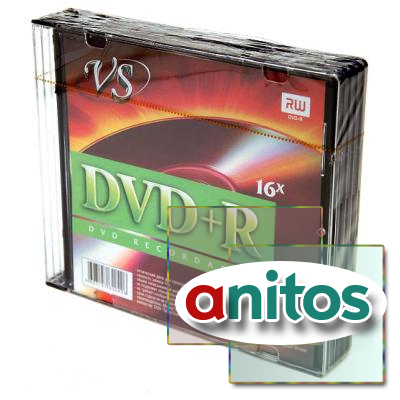 Компакт диск DVD записываемый VS DVD+R 4.7 GB 16x SL/5