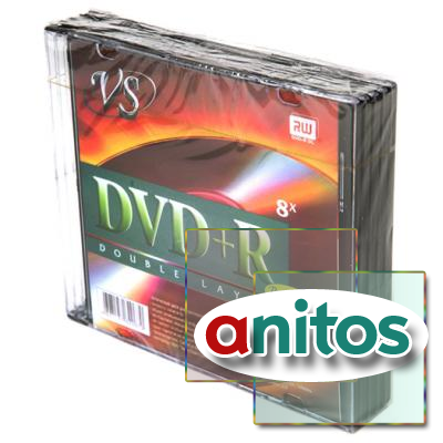Компакт диск DVD записываемый VS DVD+R 8.5 GB  8x SL/5 Double Layer Ink Print