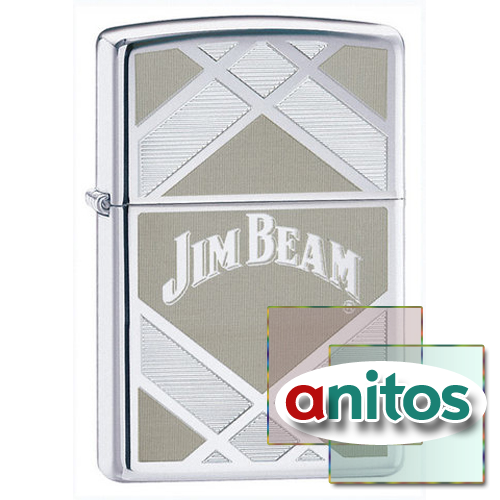 Зажигалка Zippo Jim Beam High Polish Chrome 24550