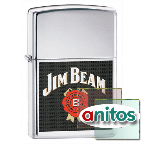 Зажигалка Zippo Jim Beam High Polish Chrome  24552