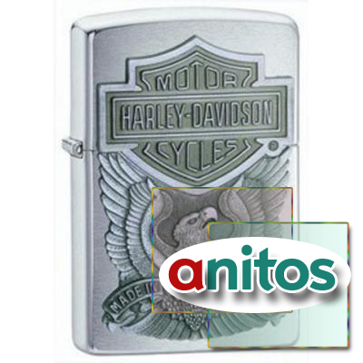 ЗАЖИГАЛКА ZIPPO HARLEY-DAVIDSON MADE IN USA EMBLEM № 200HD.H284