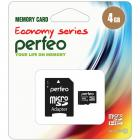 Perfeo microSD 4GB High-Capacity (Class 10) economy series