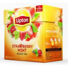 Чай Lipton Srtawberry Mint черный пирамидки 20пак/уп