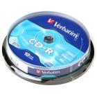 Компакт диск CD записываемый Verbatim 43437 CD-R 80 52x DL CB/10