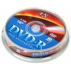Компакт диск DVD записываемый VS DVD-R 4.7 GB 16x CB/10
