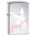 ЗАЖИГАЛКА ZIPPO PLAYBOY HIGH POLISH CHROME 24790